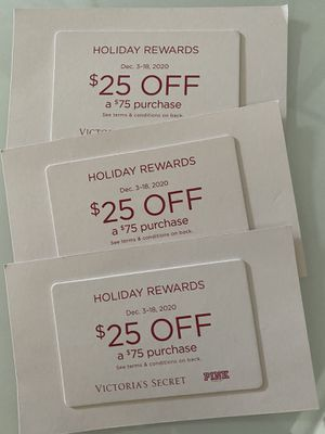 Vs coupons - valid 12/3-12/18 for Sale in Sacramento, CA