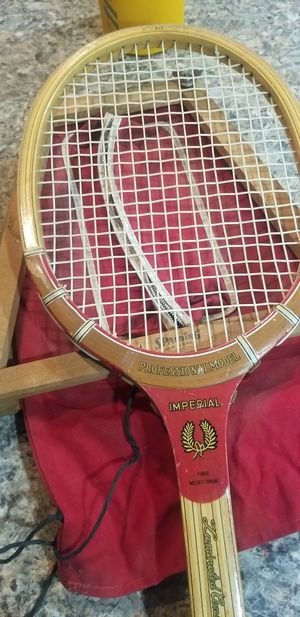 professional model imperial fibre welded throat tennis racket for Sale in Riverside, CA