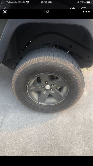 Set of 5 rims and tires for Sale in Chino, CA