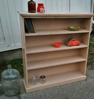 Real wood vintage book shelf ...rustic wood bookcase / bookshelves for Sale in Seattle, WA