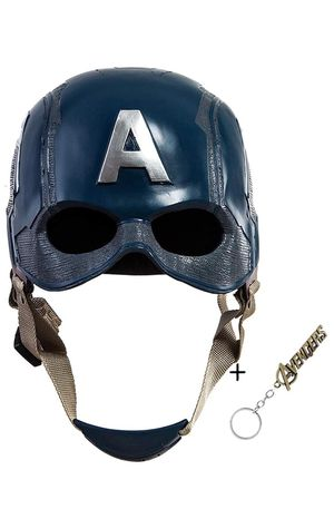 New Captain America 3 Civil War Helmet Movie Cosplay Props for Adult, Navy Blue, one size for Sale in Katy, TX