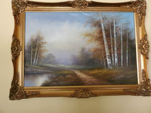 Picture and frame - painting on canvas for Sale in Gulf Breeze, FL