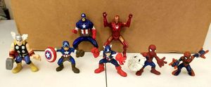 Lot of 7 marvel Imaginext action Figures. 3 captain America, 2 spiderman,1 thor,& ironman for Sale in Southaven, MS