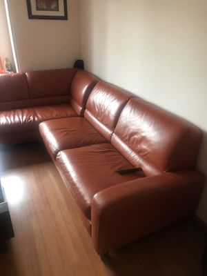 Natuzzi sectional sofa-couch with sleeper for Sale in South Amboy, NJ
