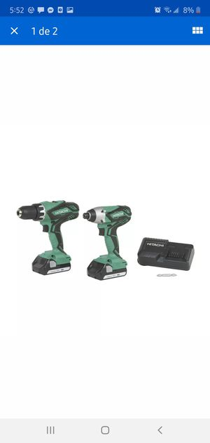 Hitachi KC18DGL 18-Volt Cordless Lithium Ion Driver Drill and Impact Driver Combo Kit for Sale in Dumfries, VA