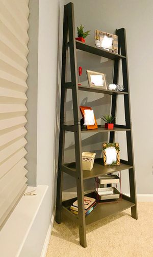 Brand New Grey Wood 5 Tier Ladder Shelf (New in Box) for Sale in Wheaton-Glenmont, MD