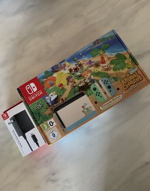 Brand New Nintendo Switch Animal Crossing: New Horizons Edition + FREE Official Nintendo Switch AC Adapter & Download Code for Sale in Austin, TX