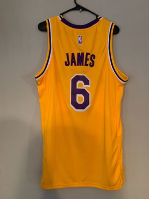 LEBRON JAMES LOS ANGELES LAKERS NIKE JERSEY BRAND NEW WITH TAGS SIZES LARGE AND XL AVAILABLE for Sale in Los Angeles, CA