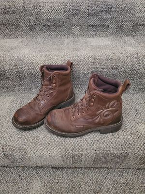 Justins womens steel toe work boots (size8) for Sale in Marysville, WA