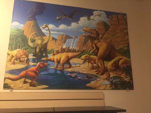 Large 5ft x 5ft dinosaur wall frame art. Jurassic world for Sale in Atlanta, GA