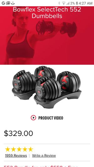 Bowflex Dumbbells for Sale in Vancouver, WA