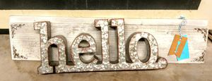 Metal Connected letters on wall decor for Sale in Springtown, TX