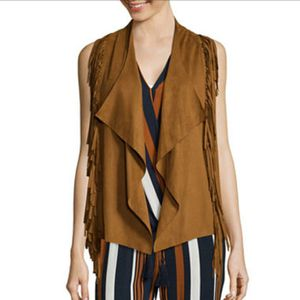 i jeans by Buffalo Faux Suede Fringe Vest for Sale in Vancouver, WA