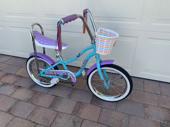 "16"" Wheel Girls Bicycle Schwinn Stingray Banna Seat High Handle Bars Basket for Sale in Cape Coral,  FL"