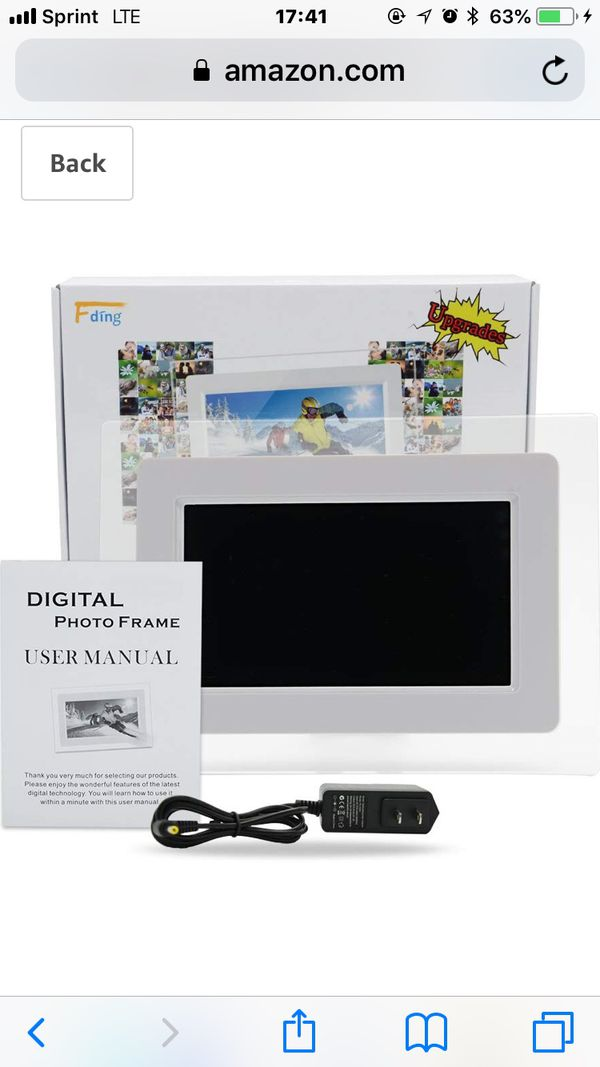 7 Inch TFT LCD Screen Digital Photos Display Frame with Calendar Support Tf Sd/Sdhc /USB Flash Drives(White)- Support 32GB SD Card-【Upgrade Version】
