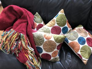4 Pillows and 1 Throw Blanket Pier One Imports for Sale in Trappe, PA