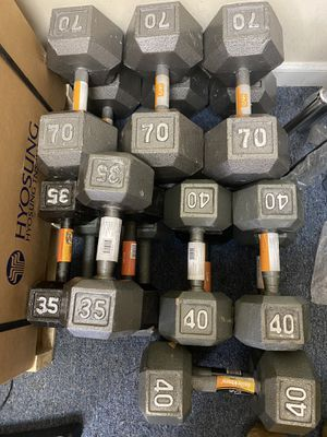 BIGGEST SALE ON DUMBBELLS! Olympic curl bars! Standard 1 inch curl and straight bars for Sale in Wallingford, CT