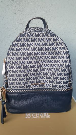 New Authentic Michael Kors Medium Navy Backpack for Sale in Commerce, CA