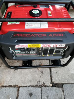 GENERATOR PREDATOR 4000 WATTS for Sale in San Antonio, TX