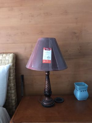 2 like new table lamps with red shades for Sale in Chesapeake, VA