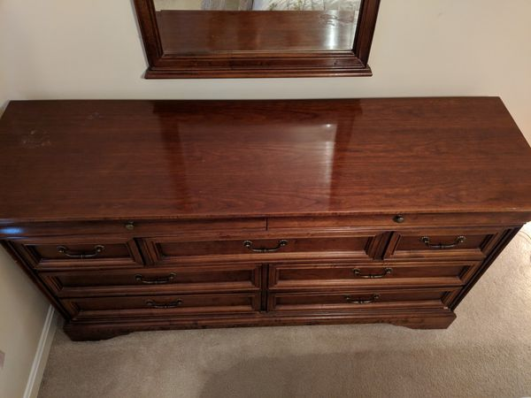 Traditional Dresser, Mirror, & Tall Chest