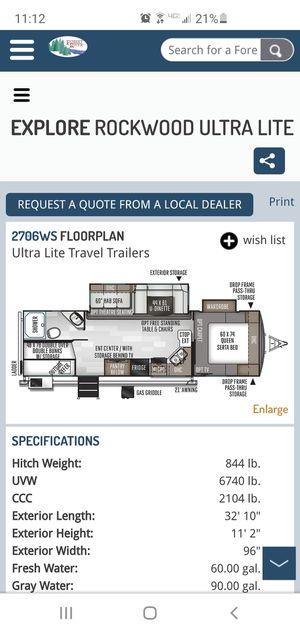 2019 Rockwood 2706WS Ultra Lite Travel Trailer for Sale in Novi, MI