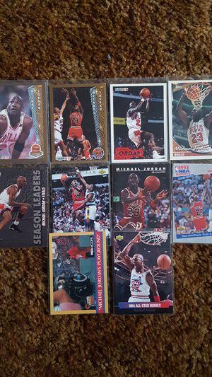 Michael Jordan baseball card lot fleer upper deck basketball topps for Sale in Elsmere, DE