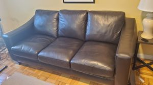 Black/Brown leather couch for Sale in New York, NY
