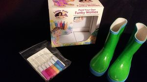 Fun paint your own rain boots for Sale in Renton, WA