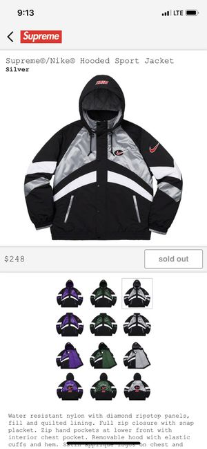 Supreme x Nike hooded jacket Large for Sale in Chino, CA