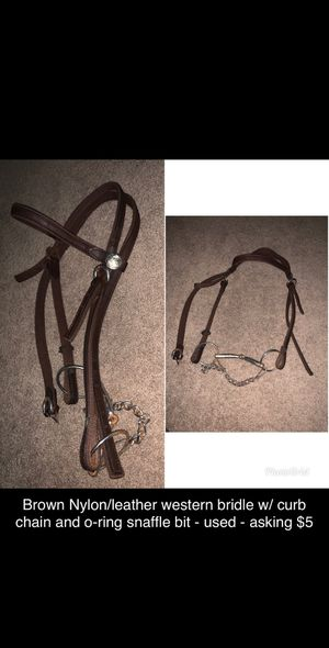 Brown nylon/leather western halter for Sale in Winter Haven, FL