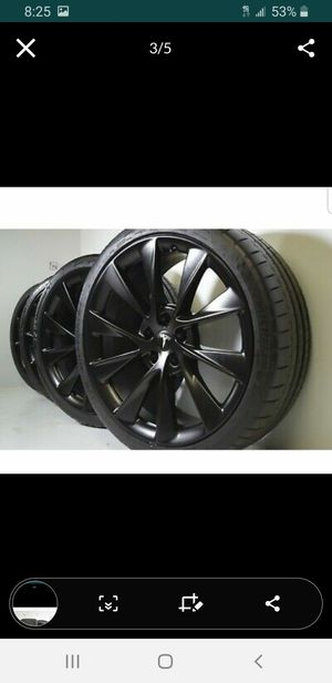 "21"" Tesla Model S Rims Wheels Oem FACTORY 2020 2019 p75 P90 P100d Black for Sale in Solana Beach, CA"