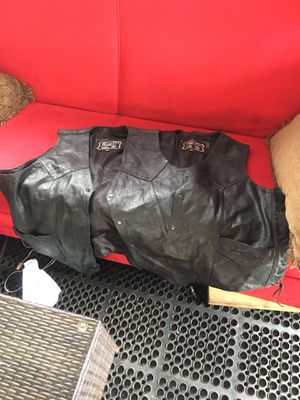 Leather motorcycle vest for Sale in Chicago, IL