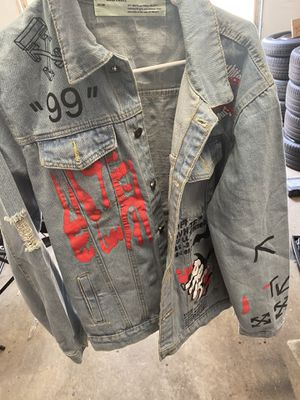 Off white jean jacket for Sale in FL, US