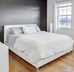 Queen Faux Leather Bed Frame for Sale in Piscataway,  NJ