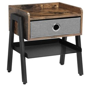 """20"""" End Table with Metal Shelf, Side Table for Small Spaces, Wood Look Accent for Sale in Monrovia, CA"""