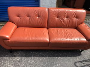 Leather living room furniture for Sale in St. Pete Beach, FL