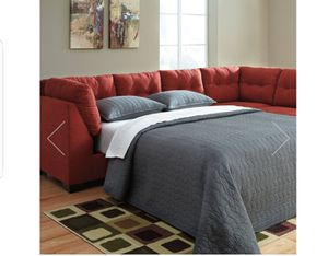 Sofa Sectional--Full Sleeper Bed (never used) for Sale in South Riding, VA