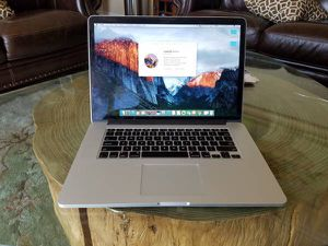 """2015 Apple MacBook Pro RETINA """"Core i7,2.3GHz 15"""" 16GB/256SSD/EDITING SOFTWARES AND Extra Programs. for Sale in Los Angeles, CA"""