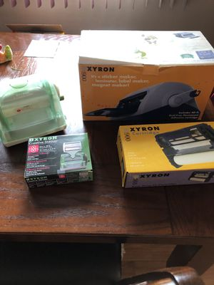 Xyron sticker maker and laminator like new for Sale in New Lenox, IL