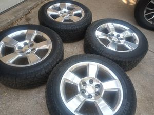 20' factory chevy polish wheels and tires for Sale in San Antonio, TX