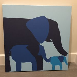 Elephant painting on canvas. for Sale in Pompano Beach, FL