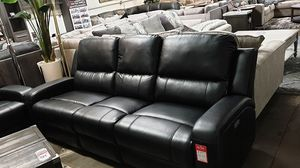 NEW, SOFA and LOVESEAT-- POWERED, WIRLESS CHARGER, LEATHER, BLACK. for Sale in Huntington Beach, CA