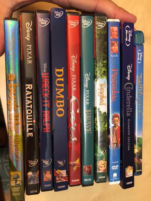Disney movies (8 DVD's, 2 Blue rays) for Sale in Winterville, NC