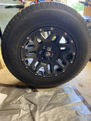 General grabber 265 70 17 truck tires and Atx wheels for Sale in Northford, CT
