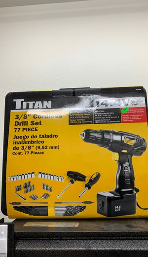 3/8 Cordless drill set at 77 piece for Sale in Olympia, WA