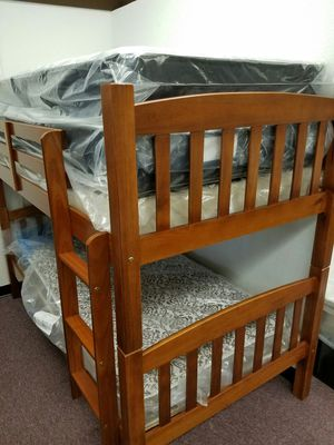 Twin Twin Mission Bunkbed VERY STURDY Brand New in box for Sale in Monticello, MN