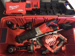 Large Milwaukee M18 power tool set (see inside great deal) 550.00 obo for Sale in Arlington, TX
