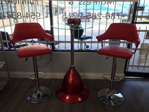 Brand new bar table with stools in 3 colors to choose for Sale in Miami, FL