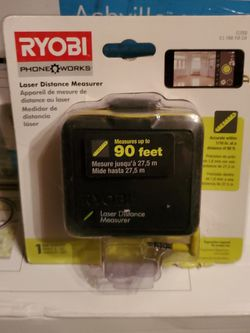 RYOBI & PHONE WORKS LASER DISTANCE MEASURER for Sale in Beaumont,  CA